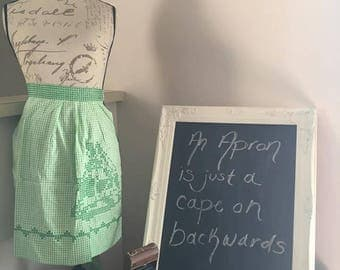 Adorable Green Stitched Apron