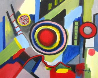 City Life Abstract Painting
