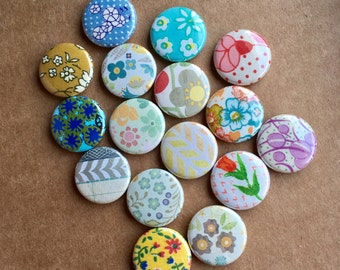 One Inch Magnets - Assortment of 16 - Compatible with Magnetic Jewelry