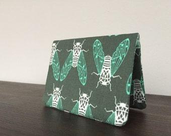 Card Wallet - Green Cicada