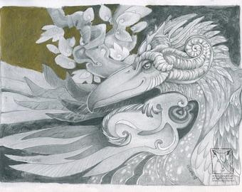 Bird Beastie, limited edition print