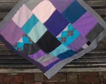 cashmere quilt  . Cashmere Baby Quilt  . baby blanket . cashmere baby blanket . cashmere lap blanket . repurposed cashmere