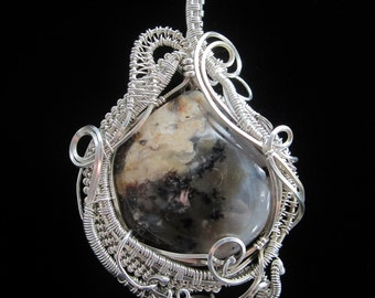 Sterling Silver Wire Wrapped Pendant with Agate