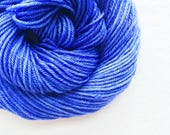 periwinkle / hand dyed yarn / fingering sock dk bulky yarn / super wash merino wool yarn / single or ply/ choose base / purple blue yarn