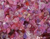 Destash Glass Frit Blend Fuchsia Red Pink Purple COE 96 Compatible 0.2 oz Bag