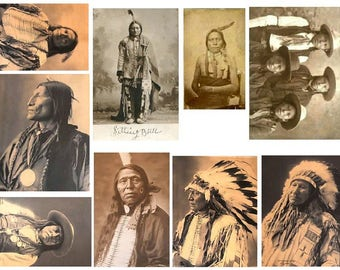 Native Americans  No. 1 - Digital Collage Sheet - Instant Download