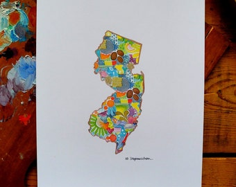 new jersery -nj - 8 x 10 inches