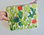 Zipper Pouch - Cactus Pouch - Make up Bag - Cosmetic Bag - Gift for Girls - Cactus Pouch - Bag Cactus - Bridesmaid Gift - Gifts under 15