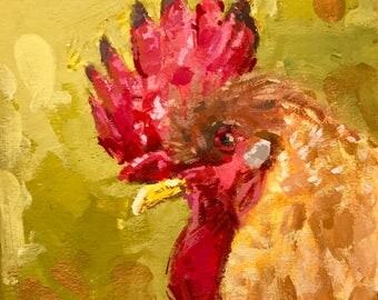 Chicken Head #5 - original painting by Andrew Daniel