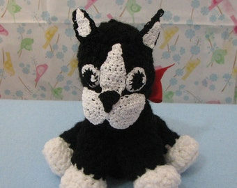 Crochet Toy Pattern - Mini Boston Terrier Toy Dog Crochet Pattern - Toy Pattern - Crochet Pattern - Animal Crochet Pattern -Digital Download