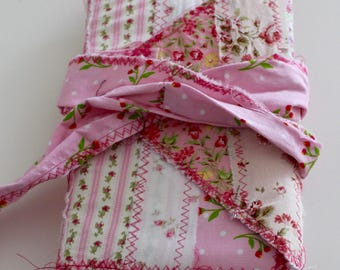Pink fabric cottage chic journal