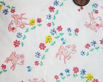 Cute Cotton Fabric - Bambi Deer