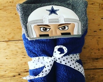 Cowboys Football Player Inspired Hooded Towel, Kids Large Hooded Towel, Baby Large Hooded Towel