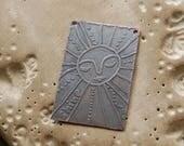 Good Day Sunshine / gravée cuivre Bracelet Bar - dessins originaux sur le cuivre
