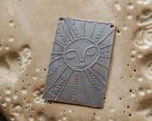 Good Day Sunshine / Etched Copper Bracelet Bar - Original Drawings on Copper