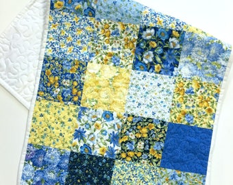 Table Runner Topper Summer Breeze Country Home Patchwork Quilted Yellow Blue Home Decor