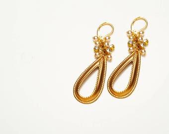 Heirloom Ribbon Cluster Earrings