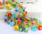 SUMMER GARDEN Handmade Glass Bead Bracelet or Anklet