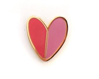 Mod Heart, Enamel Pin
