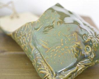 Wall Pocket in Deep Jade