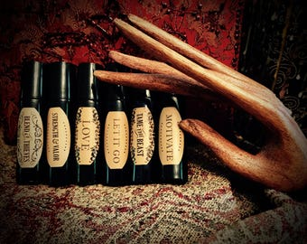 """Essential Oil Roll-On / Ylang Ylang , Sweet Orange, Peppermint / """"Motivate"""""""
