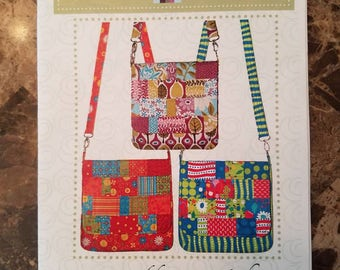 Quilts illustrated ps010 mini messenger pattern. New! Messenger bag - purse sewing pattern! Quilted design!