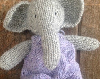 Elephant Eco Kids Toy Waldorf Stuffed Animal Natural Eco Friendly Heirloom Quality