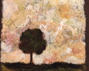 No.642 Lone Tree Too - Needlefelt Art Large