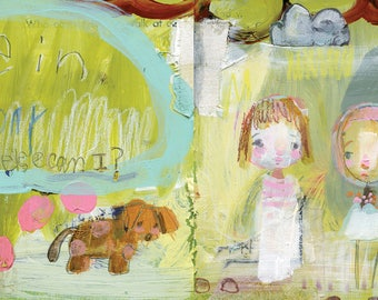 Be in Today - mixed media art print by Mindy Lacefield