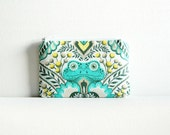 Coin Purse, Mini Zipper Pouch, Women and Teens, Frog Prince in Honey, Tula Pink Prince Charming