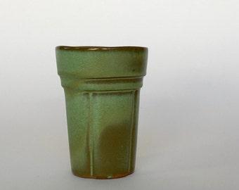Frankoma Prairie Green Drinking Glass ~ Frankoma Pottery ~ Drinking Glass ~ Frankoma Tumbler