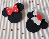 Personalize Mickey Minnie Set of Ornaments. Christmas Disney Inspired Decor. 1st Christmas Together. Family Christmas decor. Gift under 15.