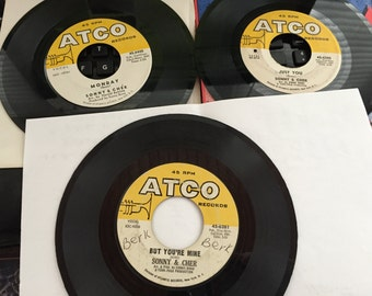 ATCO Early Sonny Cher Just You Monday Little Man Hello You're Mine 45's