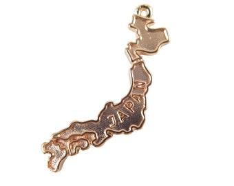 Rose Gold Plated Islands of Japan Pendants (2X) (K611-D)