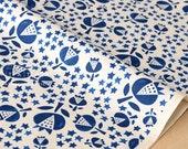 Cotton + Steel Flower Shop - thistle - indigo - 50cm