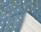 Japanese Fabric Nani Iro colorful Pocho quilted double gauze - rivage - 50cm