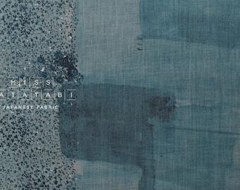 Nani Iro Kokka Japanese Fabric wild flower linen - indigo - 50cm