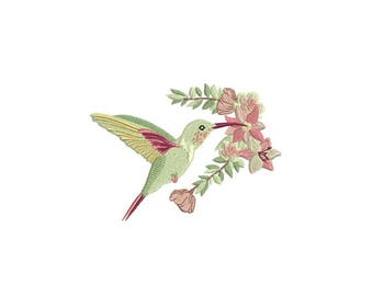 Hummingbird Machine Embroidery File - 5 x 7 inch hoop - Bird embroidery file - Machine Embroidery Design digital download