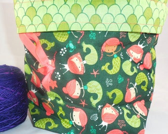 Mermaids project bag by AnniePurl
