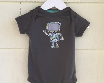 Robot Bodysuit | Binary Code | Robot Onesie | Stem Clothing | Baby Gift | One Piece | science gift| computer gift