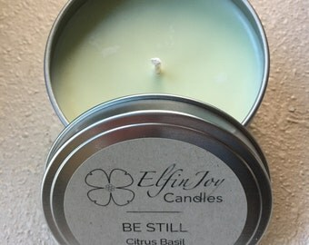 Citrus Basil BE STILL Soy Container Candle