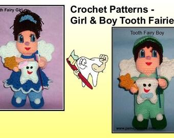 Crochet Tooth Fairy Doll Patterns, crochet tooth, crochet fairy, tooth fairy
