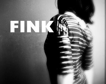 iheartfink Womens Handmade Hand Printed Black Metallic Stripes Art Print Fitted Top