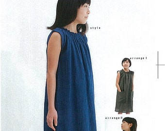 M149 KIDS Shirring Dress from M Pattern - Japanese