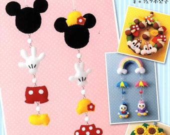 Disney Felt Mobiles and Wreaths - Japanese Craft Book