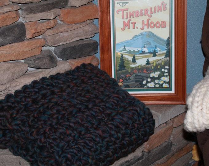 Huge Chunky Crochet Merino Wool Hygge Blanket. Super Soft Handspun Yarn. Huge Knit. Warm. 40x72in