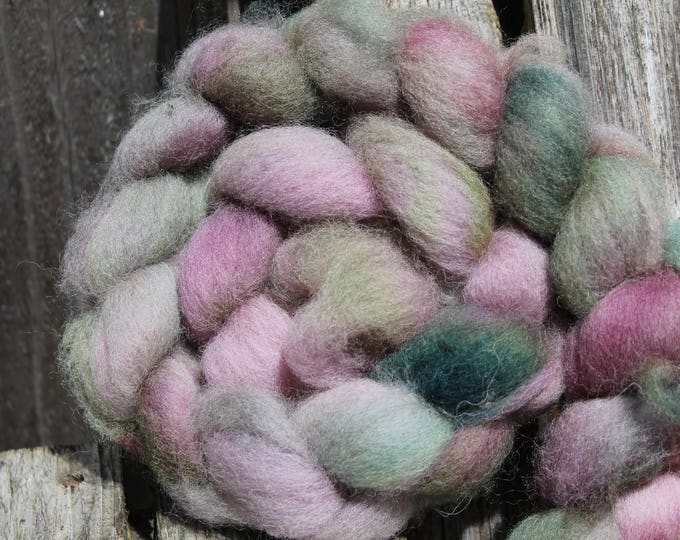 Kettle Dyed Cheviot Wool Top.  Easy to spin. 4oz  Braid. Spin. Felt. Roving. C93