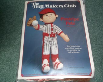 "The Doll Makers Club ""Pinstripe Pete"" Baseball Player Doll"