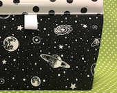 Cosmos GLOW in the DARK Oilcloth Snappy Pouch - Medium