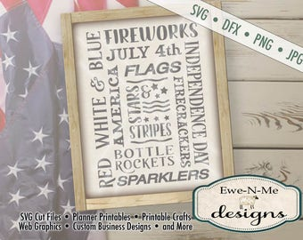 4th of July svg- patriotic svg - Fireworks SVG - Independence Day cut file - flag svg - July 4th svg - Commercial Use svg, dfx, png, jpg
